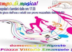 Domenica 27 Giochi in piazza Vittorio Emanuele III